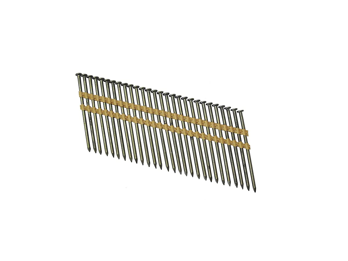 "Grip Rite Prime Guard GR3011M 21 Degree Plastic Strip Round Head Bright Coated Collated Framing Nails, 3"" x 0.120"""