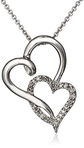 Sterling-Silver-Diamond-Double-Open-Heart-Pendant-Necklace-1-10-cttw-18-