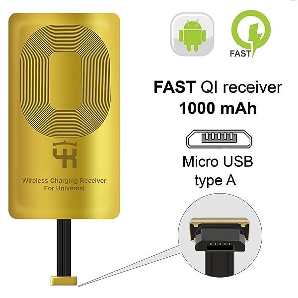 QI Receiver Type A for Samsung Galaxy J7 - J3-J6- S5 - LG