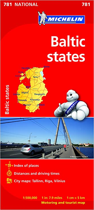 Baltic States (Michelin National Maps)