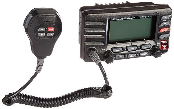 Standard Horizon GX1600B Standard Explorer VHF Marine Radio - Black (Color: Black)