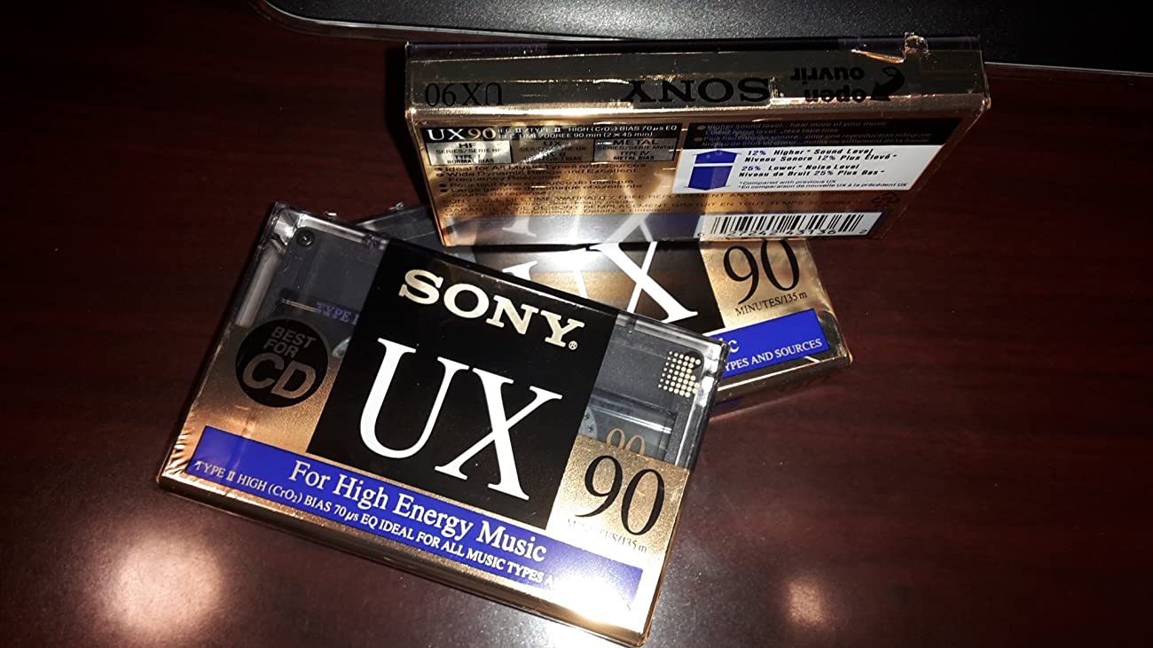Sony UX Type II 90 Minute Audio Cassette Tape 0