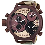 Welder Unisex 8005 K29 Oversize Three Time Zone Chronograph Watch (Color: Brown, Tamaño: Mens Standard Size)