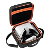 DACCKIT Travel Carrying Case Compatible with Oculus Go - Fit Oculus Go Virtual Reality Headset, Remote Controller, Power Adapter and Charging Cable (Color: Orange)