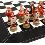 Alice in Wonderland Fantasy Chess Set with 18