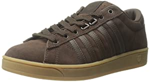 K-Swiss Men's Hoke Suede CMF Casual Shoe, Chocolate/Gum, 9.5 M US