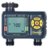 Melnor 2-Zone Automatic Water Timer (Color: Basic, Tamaño: 2-Zone)