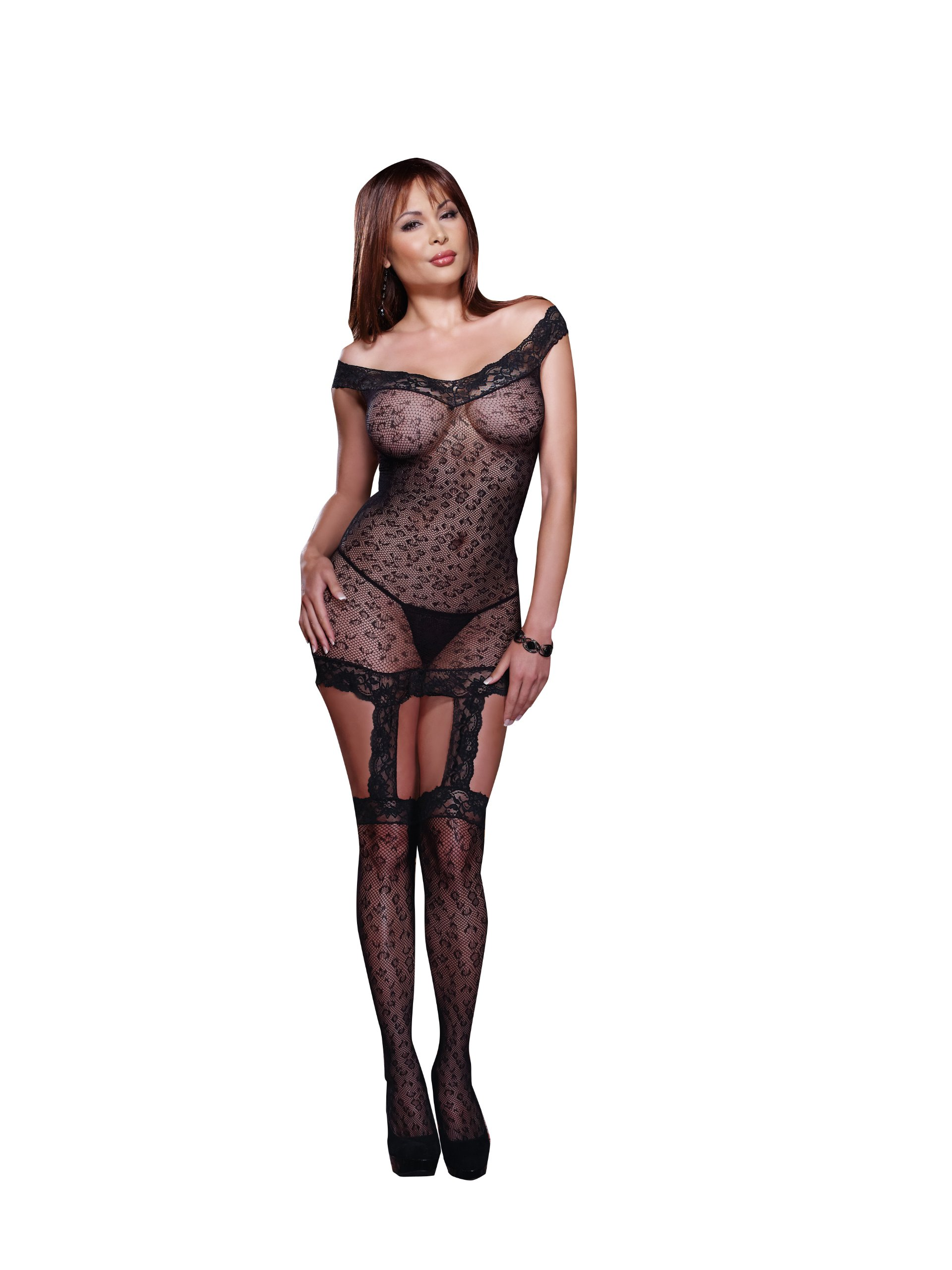 Women's Plus Size Kenya Garter Dress with Stocking image
