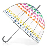 totes Clear Bubble Umbrella, Dots (Color: Dots, Tamaño: One Size)