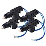 Zone Tech 4-Pack Universal High Power Door Lock Actuator - Premium Quality Heavy Duty Durable High Power Door Lock Actuator (Color: Black)