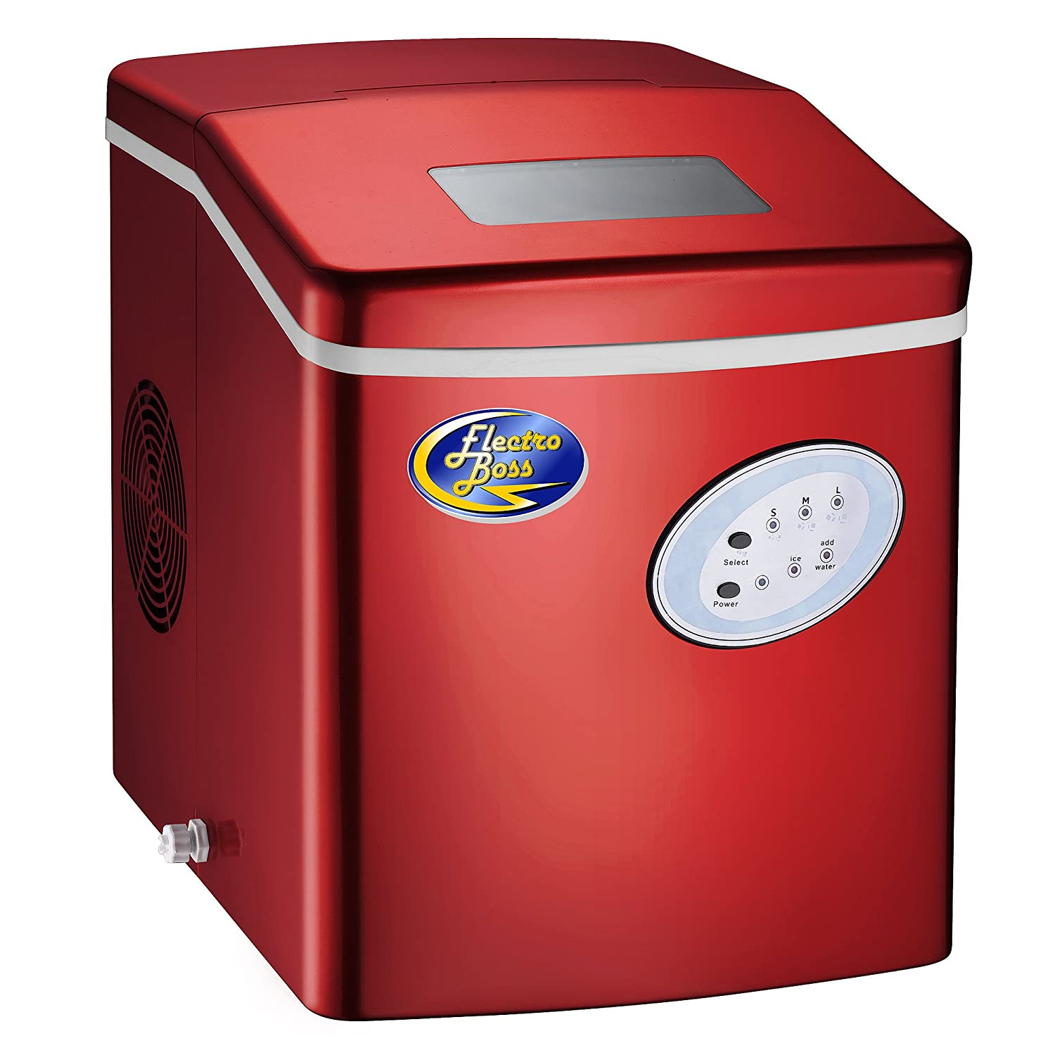 Ice Boss Red Portable Ice Maker Machine High Output Ice Maker