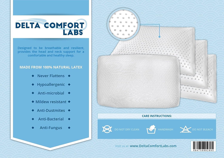 slim sleeper memory foam pillow by dc labs