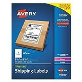 Avery Shipping Address Labels, Laser & Inkjet Printers, 500 Labels, Half Sheet Labels, Permanent Adhesive (95930)