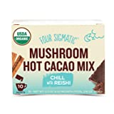 Four Sigmatic Mushroom Hot Cacao, USDA Organic Cacao with Reishi mushrooms, Chill, Vegan, Paleo, 10 Count, Packaging May Vary