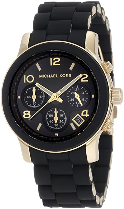 Michael Kors Quartz, Black Dial with Black Goldtone Bracelet - Womens Watch MK5191