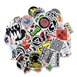 Laptop Stickers [100 pcs], Breezypals Car Stickers Luggage Decal Graffiti Guitar Skateboard Vinyl Stickers for Laptop, Rock and Roll Music Band Stickers- No-Duplicate Sticker Pack (Color: Band Sticker 100 Pcs, Tamaño: band sticker 100 pcs)