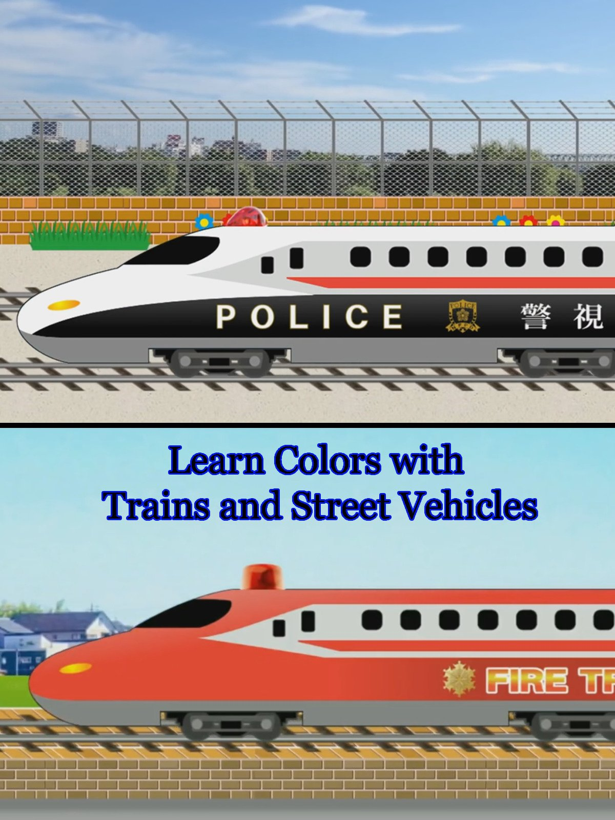 Learn Colors with Trains and Street Vehicles