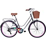 Gama Bikes Women's City Avenue Step-Thru 6 Speed Shimano Hybrid Urban Cruiser Commuter Road Bicycle, 26-inch wheels