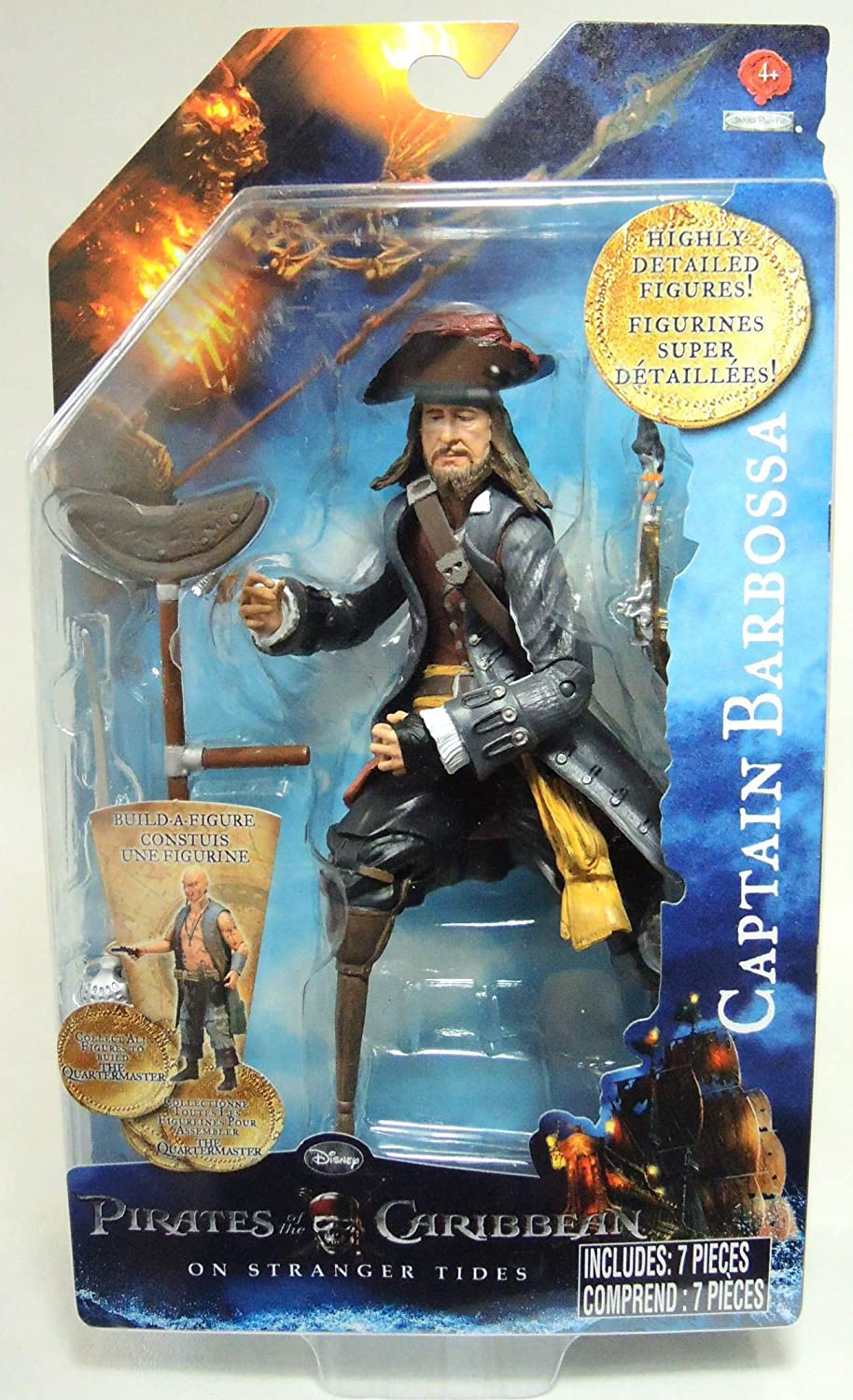 Pirates Of The Caribbean On Stranger Tides Action Figures, Series 2 Captain Barbossa