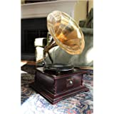 The King's Bay RCA Victoria Gramaphone or Gramophone w Big Horn Record Player Square 78 RPM
