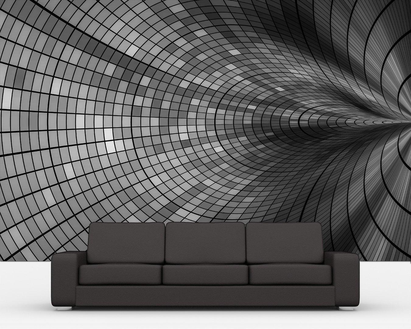Bilderdepot24 selbstklebende Fototapete abstrakter Hintergrund  schwarz weiss 360x230 cm  direkt vom Hersteller   Kritiken und weitere Infos
