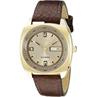 Seiko SNKN02 Yellow Gold Plated Case Leather Calf Mens Watch