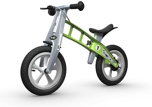 FirstBIKE Street Bike with Brake, Green