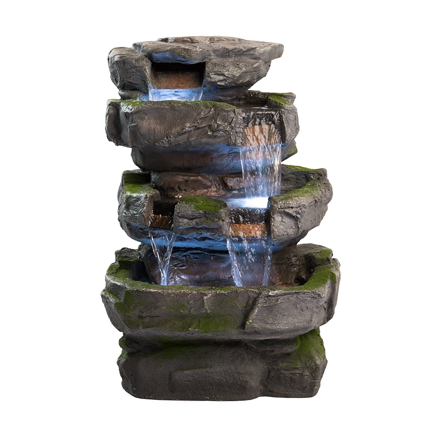 Cowboy Themed Outdoor Garden Fountain Cascading Fountains Polyresin AC 120,