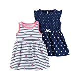 Carter's Baby Girls' 2 PK 121h237 (18 Months, Navy/Stripe) (Color: Navy/Stripe, Tamaño: 18 Months)