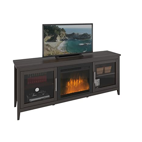 """CorLiving Jackson Fireplace for TVs, Up to 80"""", Espresso Brown"""