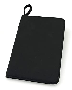 Darice Embossing Folder Organizer - Holds 40, 4.25x5.75 Folders - Black Nylon Zippered Case with 40 Storage Pockets - Keep Embossing Folders Neat, Organized, Protected, 14.25x10x1.75 (Color: Black, Tamaño: 14.25 x 10)