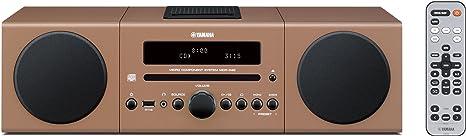 Yamaha MCR042BR Chaîne Hifi avec tuner FM pour CD/Ipod/Iphone Marron