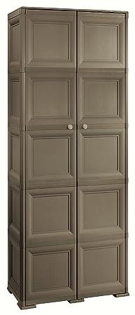 Tontarelli 8085556909 Omnimodus Ten Compartment Storage Unit, 79 x 43 x 203 cm, Chocolate