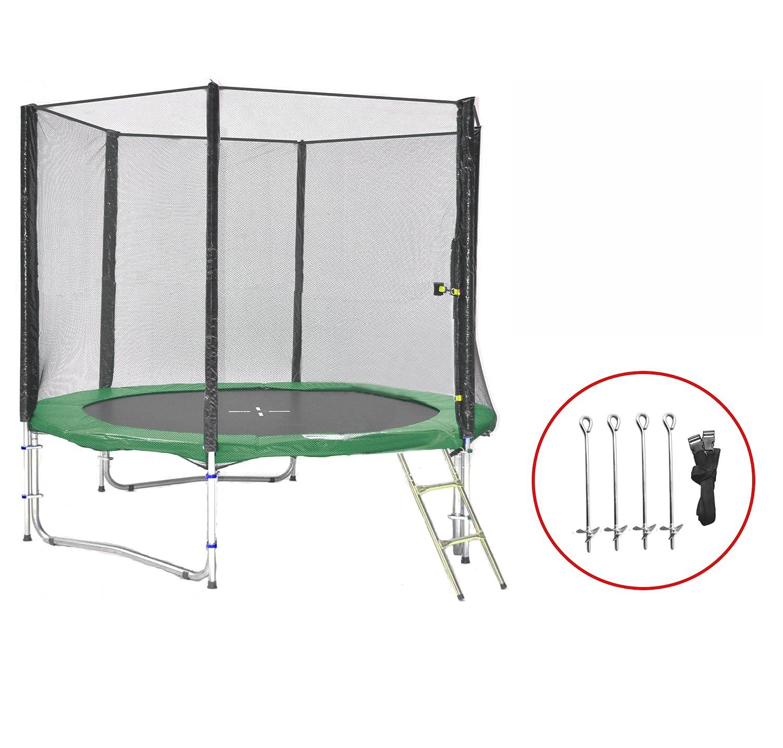 SB-245-GA Gartentrampolin 245cm incl. Netz, Leiter, Anker , 150kg Traglast günstig kaufen
