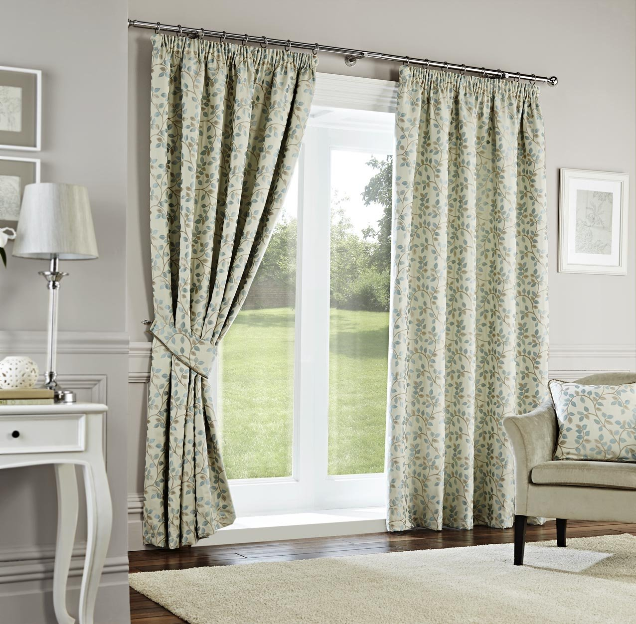 Dreams n Drapes Curtina 90 x 108 cm Oakhurst Duck Egg Lined Curtains, Turquoise       reviews