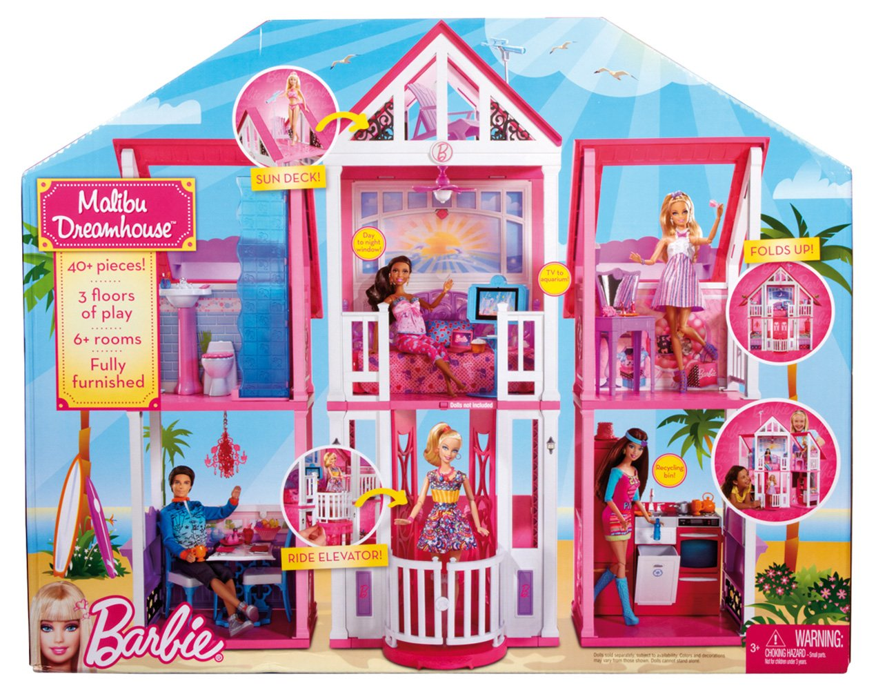 Barbie's California Dream House Barbie Doll House NEW RRP ...