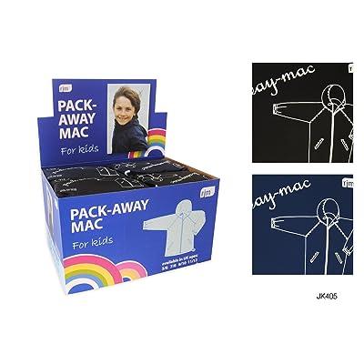 Childrens/Kids Boys Hooded Packaway Mac Raincoat/Jacket