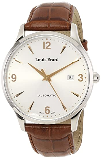 Louis Erard Men's 69219AA11.BDC80 1931 Stainless Steel Automatic Watch with Leather Band