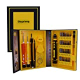 38In1 5 Point 0.8mm 1.2mm T5 T6 T7 Multip Urpose Drive Screwdriver Set Magnetic Screwdriver bit Auto and Homeowner's Tool Kit for iPhones,ThinkPad Mackbook Zenbook Computer,Watch, XBox Wii (Color: 38 In1Tools Set)