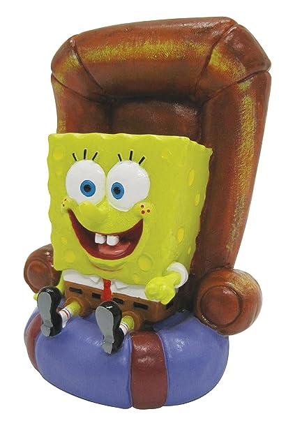 Penn Plax SpongeBob sur Fauteuil Objet d'Ornement pour Aquariophilie 12,7 cm