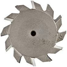 "Niagara Cutter TS109 T-Slot Shank Type Cutter, High Speed Steel, Uncoated (Bright), Weldon Shank, 10 Helix Angle, 2"" Cutter Diameter, 12 Tooth, 5/32"" Width"