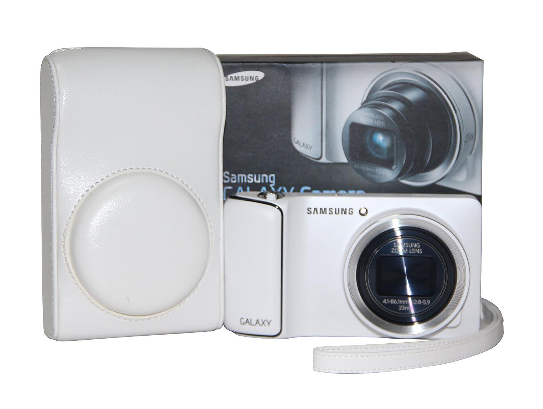 MegaGear Ever Ready Protective White Leather Camera Case , Bag for Samsung Galaxy Camera EK-GC100 ,Samsung EK-GC110 Galaxy Digital Camera