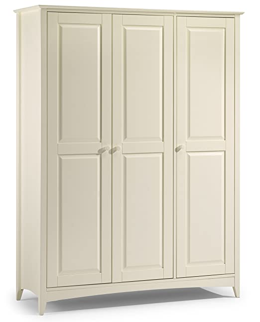 Julian Bowen Cameo 3 Door Wardrobe, White