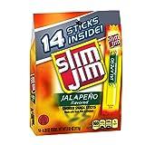 Slim Jim Snack-Sized Smoked Meat Stick, Jalapeño Flavor, 0.28 Oz. (14 Count)
