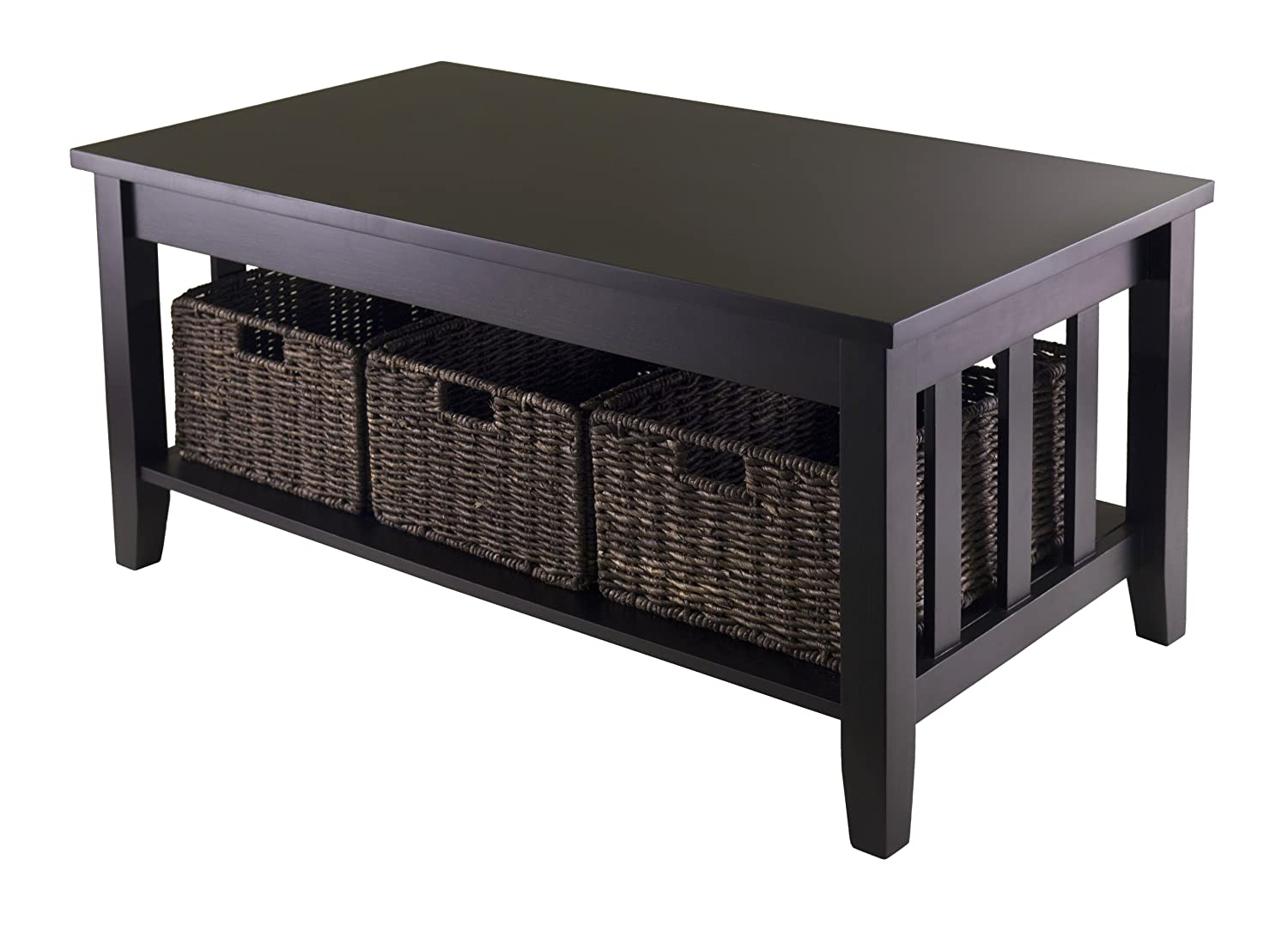 Coffee Tables With Basket Storage Cocktail Table With Storage Home Decor And Furniture Deals