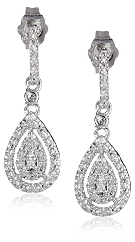 Sterling-Silver-and-Diamond-Drop-Earrings-0-14-cttw-I-J-Color-I2-I3-Clarity-