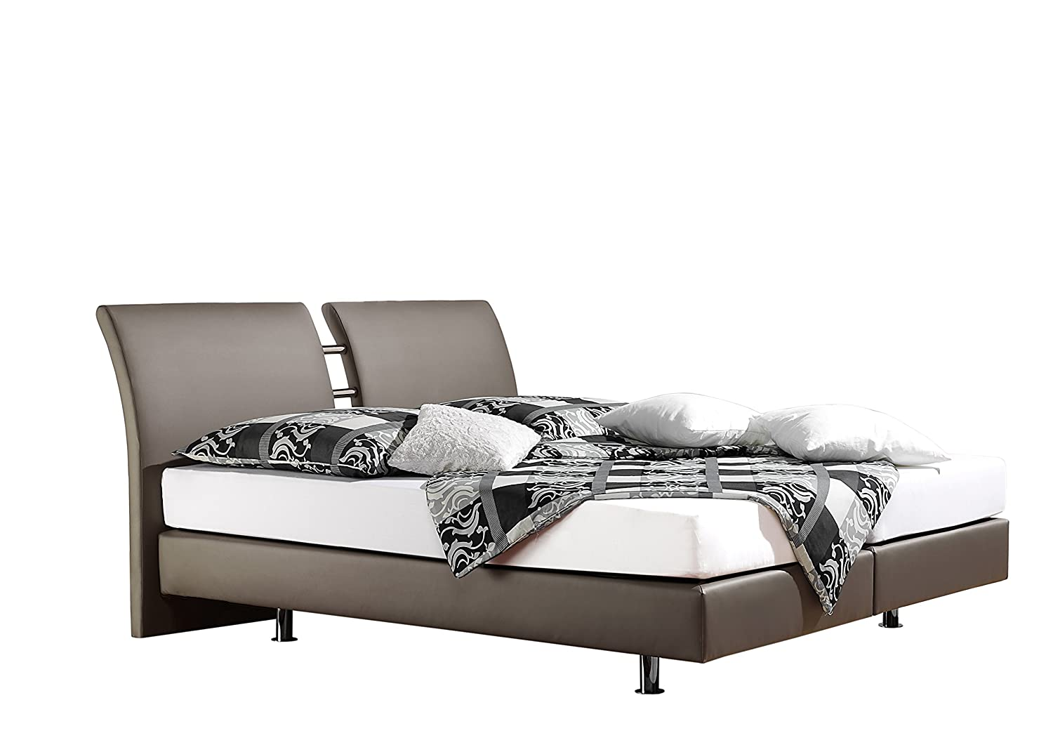 Maintal Betten 236819-4130 Boxspringbett Polo 180 x 200 cm, kunstleder taupe