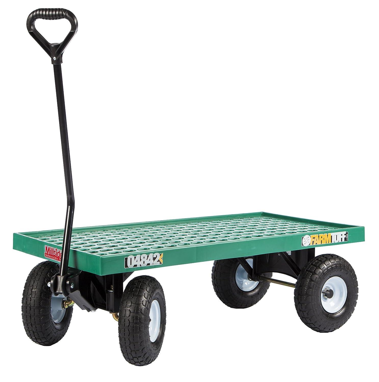 ... Tuff Plastic Deck Wagon, 20 Inch By 40 Inch, Green