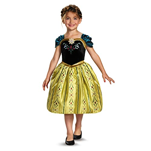 Disguise Disneys Frozen Anna Coronation Gown Classic Girls Costume Small/4-6x
