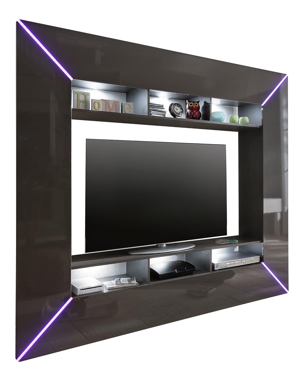 trendteam SC95121 Wohnwand TV Möbel grau Hochglanz, BxHxT 201x180x35 cm jetzt kaufen